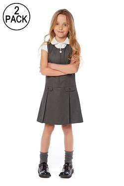 Pack Of 2 Pinafore Dresses