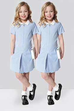 Girls Pack Of 2 Gingham Zip Through...