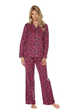 Print Flannel Pyjamas - Animal Print