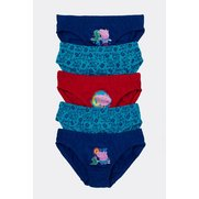 Boys George Pig Pack Of 5 Briefs