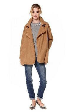 Be You Wool Mix Wrap Coat