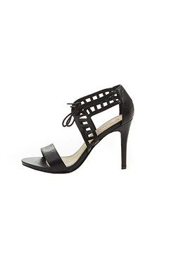 Be You Lace-Up Cut-Out Heel Sandal