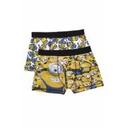 Boys' Minions Pack Of 2 Boxers