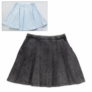 Girl's Pack Of 2 Acid Wash Skirts