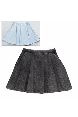Girls Pack Of 2 Acid Wash Skirts