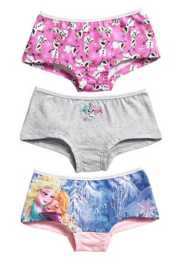 Girls' Disney Frozen Pack Of 3 Hips...