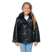 Girl's PU Lined Biker Jacket