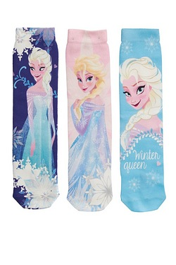 Girls Disney Frozen Pack Of 3 Print...