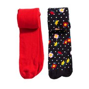 Girls' Pack Of 2 Floral Tights