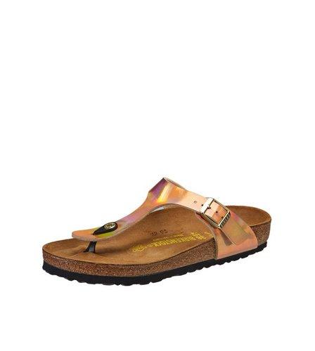 womens birkenstock gizeh mirror sandal shoe gold post toe. Black Bedroom Furniture Sets. Home Design Ideas