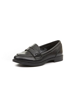 Girls PU Heeled Loafer