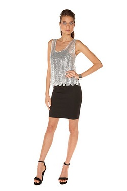 Club L Sequin 2-In-1 Dress