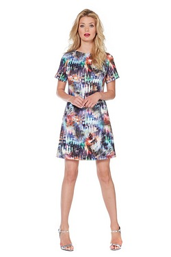 Girls On Film Printed Dress