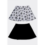 Girls Pack Of 2 Skater Skirts