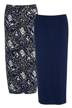 Be You Pack Of 2 Midi Tube Skirts -...
