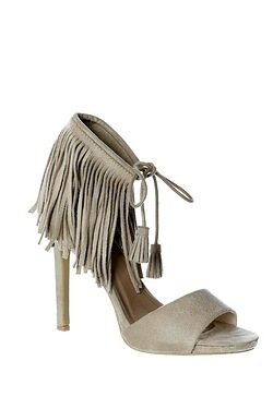 Be You Fringed Ankle Heel Shoe