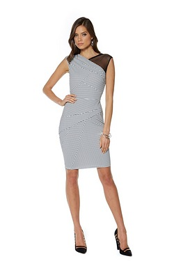 Lipsy Mesh Shoulder Dress