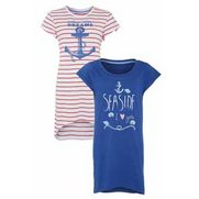 Nautical Pack Of 2 Nightdresses
