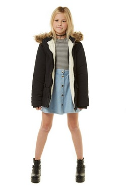 Young Girl's Parka With Detachable ...