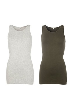 Just Me Pack Of 2 Longline Vests
