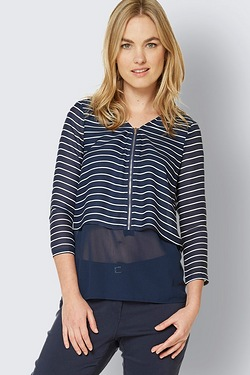 Be You Zip Front Blouse
