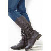 Be You Ankle Detail Tall Boot Choco...