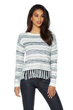 Only Calista Stripe Fringe Jumper