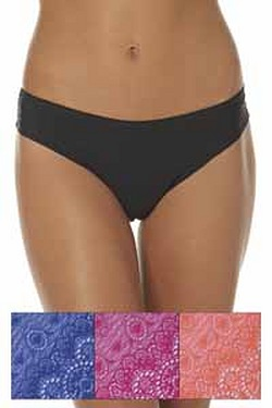 Pack Of 3 Lace Brazilian Briefs