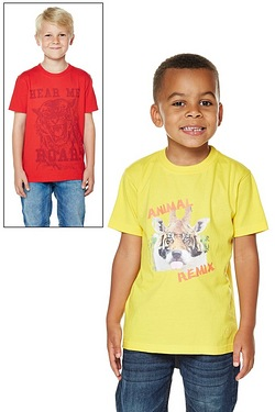 Younger Boys Pack Of 2 T-Shirts