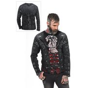 Spiral Gothic Wrap Long Sleeve T-Shirt