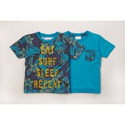 Boys Pack Of 2 Leaf T-Shirts
