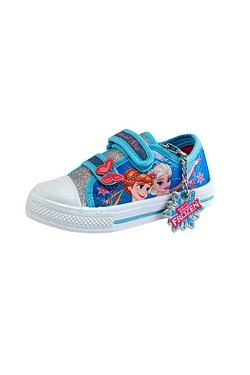 Girls Frozen Velcro Shoe
