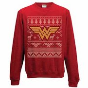 Men's Wonder Woman Fairisle Logo Re...