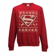 Men's Superman Fairisle Logo Red Sw...