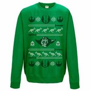 Men's Yoda Head Irish Green Christm...