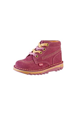 Girls Kickers Hi Swizz Suede Boots
