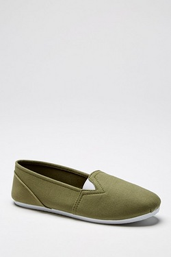 Twisted Gorilla Canvas Slip On Pump