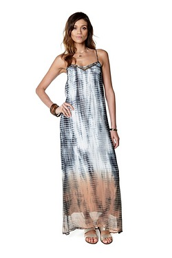 Be You Embellished Tie Dye Maxi Dress
