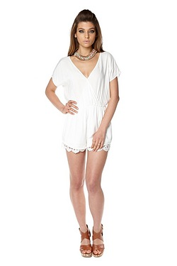Glamorous Playsuit With Lace Detail