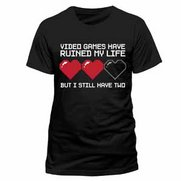 Men's Video Games Black T-Shirt