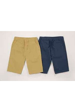 Boys Pack Of 2 Canvas Shorts