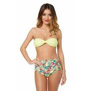 Bandeau & High Waist Bikini Set
