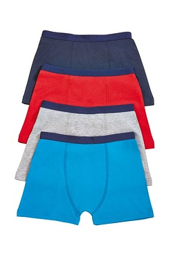 Boys Pack Of 4 Plain Boxers