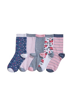Pack Of 5 Floral Socks