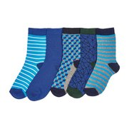 Boys Pack Of 5 Geometric Socks
