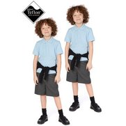 Boys Pack Of 2 Flat Front Shorts
