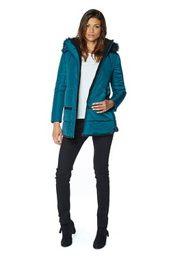 Be You Faux Fur Sherpa Padded Coat