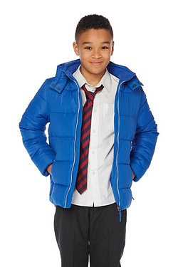Boys Hooded Wadded Jacket