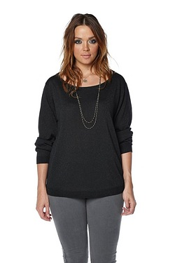 Just Me Lurex Bow Back Sweater