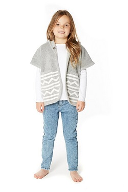 Girls Knitted Poncho